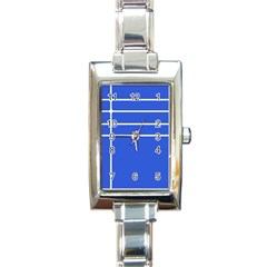 Stripes Pattern Template Texture Blue Rectangle Italian Charm Watch