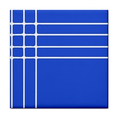 Stripes Pattern Template Texture Blue Tile Coasters