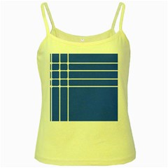 Stripes Pattern Template Texture Blue Yellow Spaghetti Tank