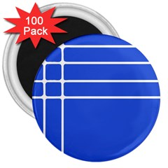 Stripes Pattern Template Texture Blue 3  Magnets (100 Pack)