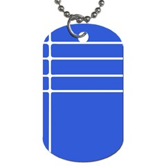 Stripes Pattern Template Texture Blue Dog Tag (two Sides)