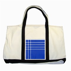 Stripes Pattern Template Texture Blue Two Tone Tote Bag