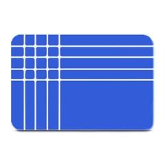 Stripes Pattern Template Texture Blue Plate Mats