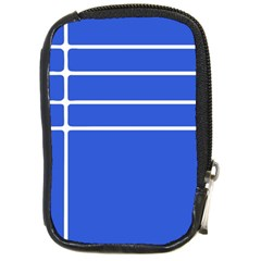 Stripes Pattern Template Texture Blue Compact Camera Cases