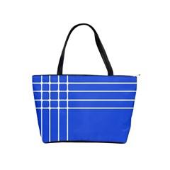 Stripes Pattern Template Texture Blue Shoulder Handbags