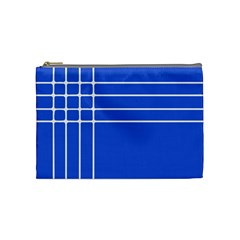Stripes Pattern Template Texture Blue Cosmetic Bag (medium)