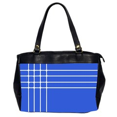 Stripes Pattern Template Texture Blue Office Handbags (2 Sides)