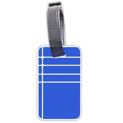 Stripes Pattern Template Texture Blue Luggage Tags (one Side)