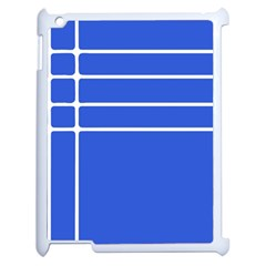 Stripes Pattern Template Texture Blue Apple Ipad 2 Case (white)
