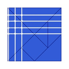 Stripes Pattern Template Texture Blue Acrylic Tangram Puzzle (6  X 6 )