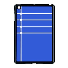 Stripes Pattern Template Texture Blue Apple Ipad Mini Case (black) by Nexatart