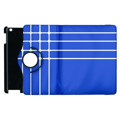 Stripes Pattern Template Texture Blue Apple Ipad 2 Flip 360 Case