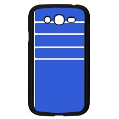 Stripes Pattern Template Texture Blue Samsung Galaxy Grand Duos I9082 Case (black)