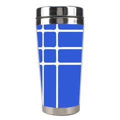 Stripes Pattern Template Texture Blue Stainless Steel Travel Tumblers by Nexatart