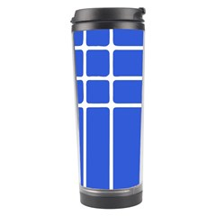 Stripes Pattern Template Texture Blue Travel Tumbler