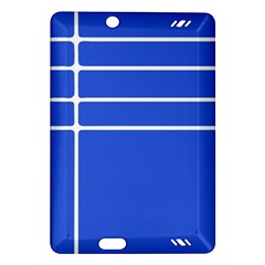 Stripes Pattern Template Texture Blue Amazon Kindle Fire Hd (2013) Hardshell Case by Nexatart