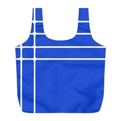 Stripes Pattern Template Texture Blue Full Print Recycle Bags (l)