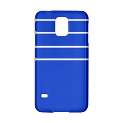 Stripes Pattern Template Texture Blue Samsung Galaxy S5 Hardshell Case  by Nexatart