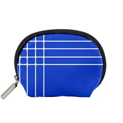 Stripes Pattern Template Texture Blue Accessory Pouches (small)