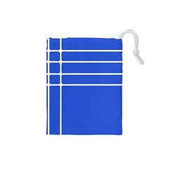 Stripes Pattern Template Texture Blue Drawstring Pouches (small)