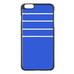 Stripes Pattern Template Texture Blue Apple Iphone 6 Plus/6s Plus Black Enamel Case