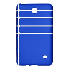 Stripes Pattern Template Texture Blue Samsung Galaxy Tab 4 (7 ) Hardshell Case