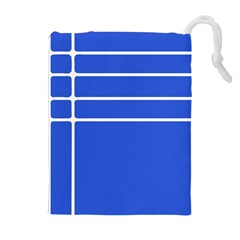 Stripes Pattern Template Texture Blue Drawstring Pouches (extra Large)