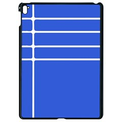 Stripes Pattern Template Texture Blue Apple Ipad Pro 9 7   Black Seamless Case