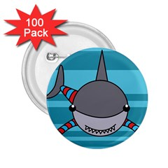 Shark Sea Fish Animal Ocean 2 25  Buttons (100 Pack)