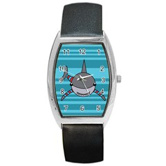 Shark Sea Fish Animal Ocean Barrel Style Metal Watch