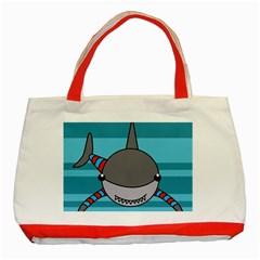 Shark Sea Fish Animal Ocean Classic Tote Bag (red)