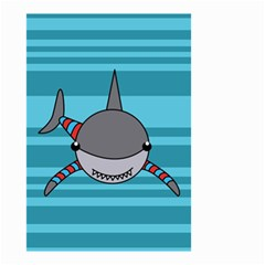 Shark Sea Fish Animal Ocean Small Garden Flag (two Sides) by Nexatart
