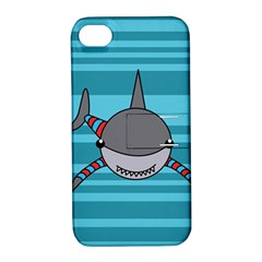 Shark Sea Fish Animal Ocean Apple Iphone 4/4s Hardshell Case With Stand by Nexatart