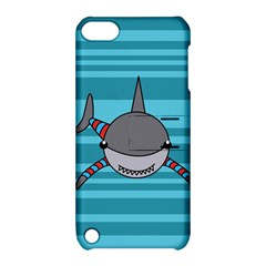 Shark Sea Fish Animal Ocean Apple Ipod Touch 5 Hardshell Case With Stand