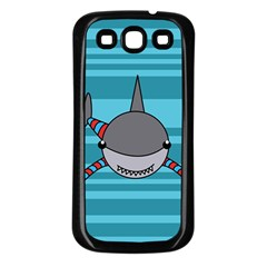 Shark Sea Fish Animal Ocean Samsung Galaxy S3 Back Case (black)