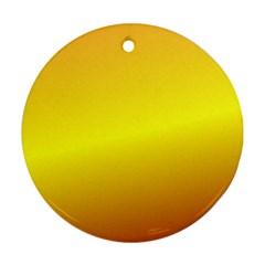 Gradient Orange Heat Ornament (round)