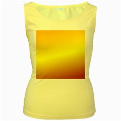 Gradient Orange Heat Women s Yellow Tank Top