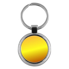 Gradient Orange Heat Key Chains (round)