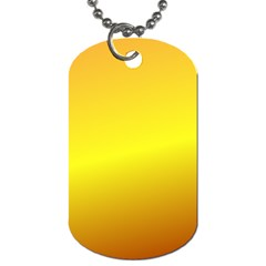 Gradient Orange Heat Dog Tag (two Sides)