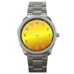 Gradient Orange Heat Sport Metal Watch
