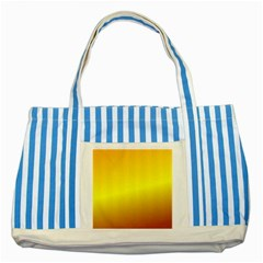 Gradient Orange Heat Striped Blue Tote Bag
