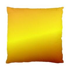 Gradient Orange Heat Standard Cushion Case (one Side)