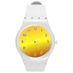 Gradient Orange Heat Round Plastic Sport Watch (m)