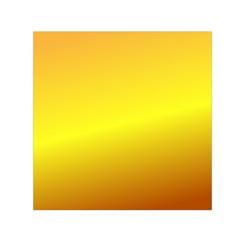 Gradient Orange Heat Small Satin Scarf (square) by Nexatart