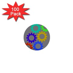 Gear Transmission Options Settings 1  Mini Buttons (100 Pack)