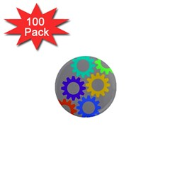 Gear Transmission Options Settings 1  Mini Magnets (100 Pack)  by Nexatart
