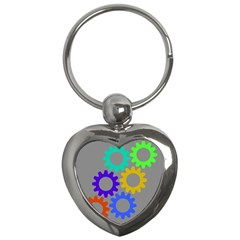 Gear Transmission Options Settings Key Chains (heart)