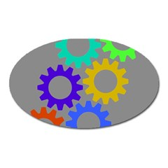 Gear Transmission Options Settings Oval Magnet by Nexatart
