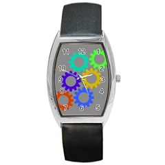 Gear Transmission Options Settings Barrel Style Metal Watch