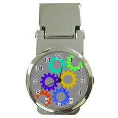 Gear Transmission Options Settings Money Clip Watches